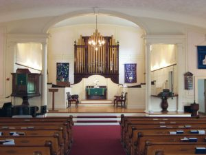 First Congregational Church of Billerica, Billerica, MA - TWO MANUAL  Two manual Quantum series Q-265 drawknob console with 36 Stops and full MIDI implementation with Vista