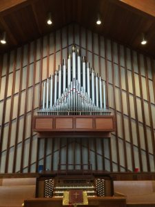 """ALL SAINTS EPISCOPAL CHURCH - THREE MANUAL - This 58 stop combination project was completed in December, 2015. Faucher Organ Company has collaborated with G. Paul Music on pipe combination projects since 2002. Most of our projects involve renovating and preserving the legacy of pipe organs already installed in a church. The All Saints Episcopal project, which was a result of a collaboration with our Allen Organ associate in New York, serves as an example of our unique capability to design and build a new combination organ from the ground up. A perfect example of the """"marriage"""" of pipes and an Allen Organ!"""